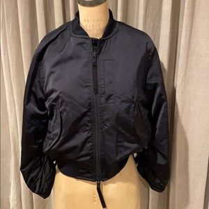 Vince black nylon bomber jacket